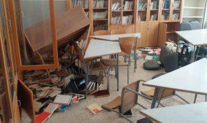 كسر وخلع وبعثرة ملفات في ثانوية في بنت جبيل