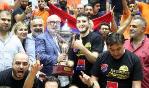 هومنتمن يُتوج بكأس لبنان بعد مباراة جماهيرية ومتشنجة