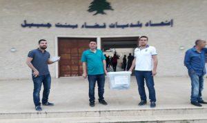 توزيع صناديق الاقتراع في بنت جبيل