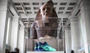 عرض حذاء صلاح في المتحف البريطاني