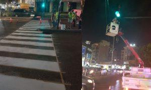 بالصورة… تشغيل الإشارة الضوئية على تقاطع الجاموس – السان تيريز