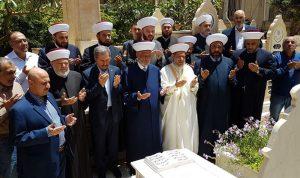 دريان زار ضريح المفتي حسن خالد
