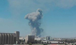 انفجارات ضخمة هزت مطار حماة في سوريا