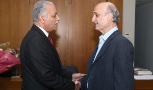 جعجع عرض الأوضاع مع سفيري العراق وألمانيا