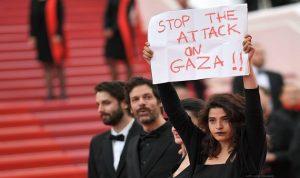 """ممثلة لبنانية من كان: """"أوقفوا الهجوم على غزة"""""""