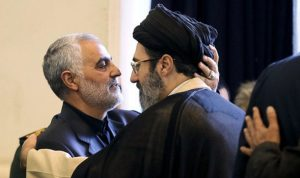 ماذا يفعل ابن خامنئي وقاسم سليماني في بغداد؟