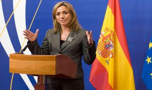 وزيرة الدفاع الاسبانية تتفقد حدود لبنان- فلسطين