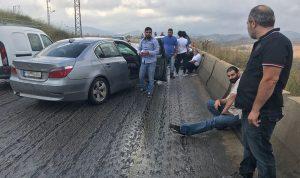 بالصورة… جرحى بحادث سير في الخردلي