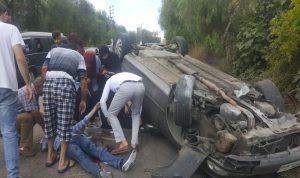 نجاة أم وإبنها من حادث سير في النبطية