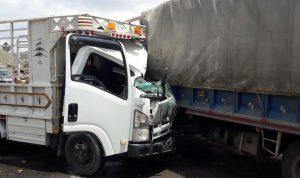 جريح بحادث سير على طريق وادي الحجير