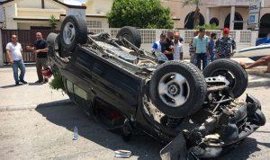 جريح بحادث سير في صور