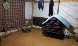 أضرار في خيم النازحين بعرسال بسبب الأمطار