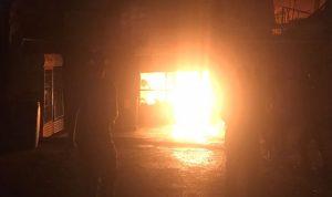 حريق مفاجئ في سوق بعلبك التجاري