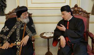 الراعي عرض مع تواضروس الثاني أوضاع المسيحيين في الشرق