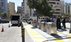 بالصور: حاويات نفايات تحت الأرض في بيروت
