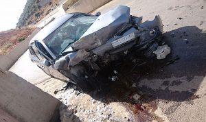 جرحى بحادث سير عند نقطة المصنع الحدودية
