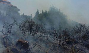 حريق في خراج بلدة النخلة – الكورة
