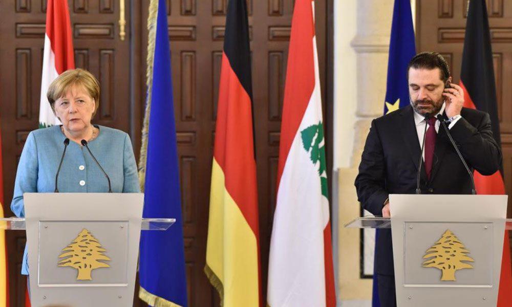 الحريري وميركل: لعودة آمنة للاجئين