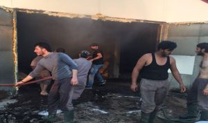حريق في مزرعة للدواجن في إيعات