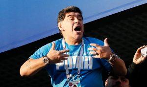 الفيفا ينهي تعاونه مع مارادونا بسبب سلوكه