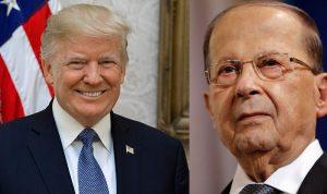 ترامب اتصل بعون: نقف إلى جانب لبنان