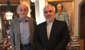 جنبلاط إلتقى السفير الإيراني في زيارة وداعية