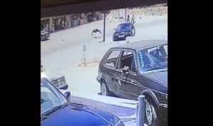 بالفيديو.. لحظة وقوع حادث صدم مروّع في زحلة