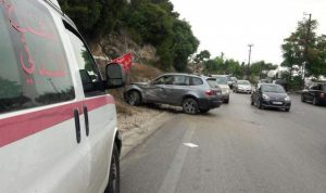 حادث سير على طريق عام جعيتا