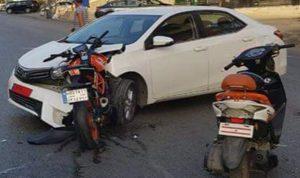 جريح بحادث سير على طريق عام سهيلة