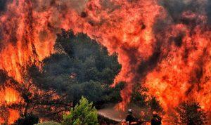 """بالصور والفيديو… أثينا تحترق وبلدة """"ماتي"""" اختفت من الوجود"""