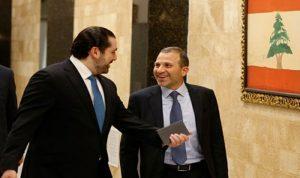 """لقاء الحريري – باسيل ليس """"مفتاح"""" الحكومة"""