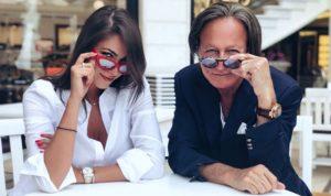بالصور: دانييلا رحمة مع والد جيجي حديد في بيروت
