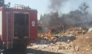 حريق في بلدة دده