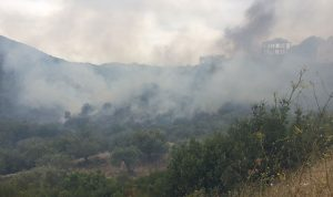 حريقان في جران واده والرياح تصعّب عملية الإخماد