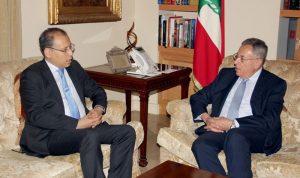السنيورة عرض مع السفير المصري الأوضاع العامة
