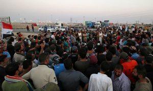 احتجاجات في البصرة ضد اعتقالات على يد قوات مجهولة