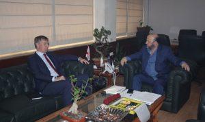 الرياشي بحث الأوضاع العامة مع السفير البريطاني
