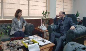 رياشي التقى السفيرة الاميركية