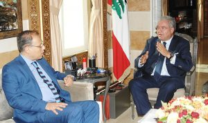 المشنوق والسفير المصري بحثا المشروع الروسي لإعادة النازحين