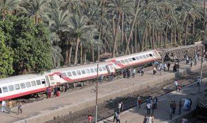 خروج قطار عن القضبان في مصر