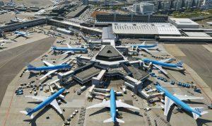 توقف الرحلات في مطار بأمستردام
