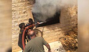 حريق داخل منزل في دورس