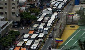 اعتصام لسائقي الشاحنات في فنزويلا