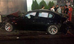 جريحان بحادث سير على أوتوستراد صربا