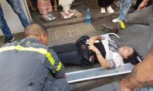 جريحة بحادث صدم في برج حمود