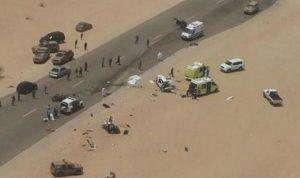 بالصور… حادث سير يودي بحياة 7 سعوديين