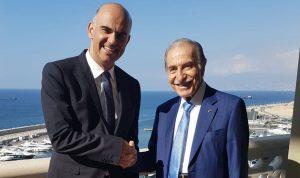 الخليل بحث مع الرئيس السويسري سبل تعزيز التعاون البرلماني
