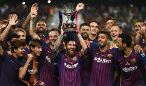 المغرب يهدي ميسي لقبه الاول كقائد برشلونة