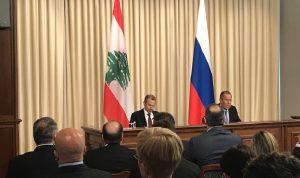 """لافروف يرفض تحويل لبنان """"رهينة"""".. وباسيل: لا مبرر لبقاء النازحين"""