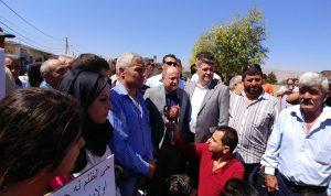 الاسمر في اعتصام عمال بلدية الفاكهة: نحذر من خطوات تصعيدية